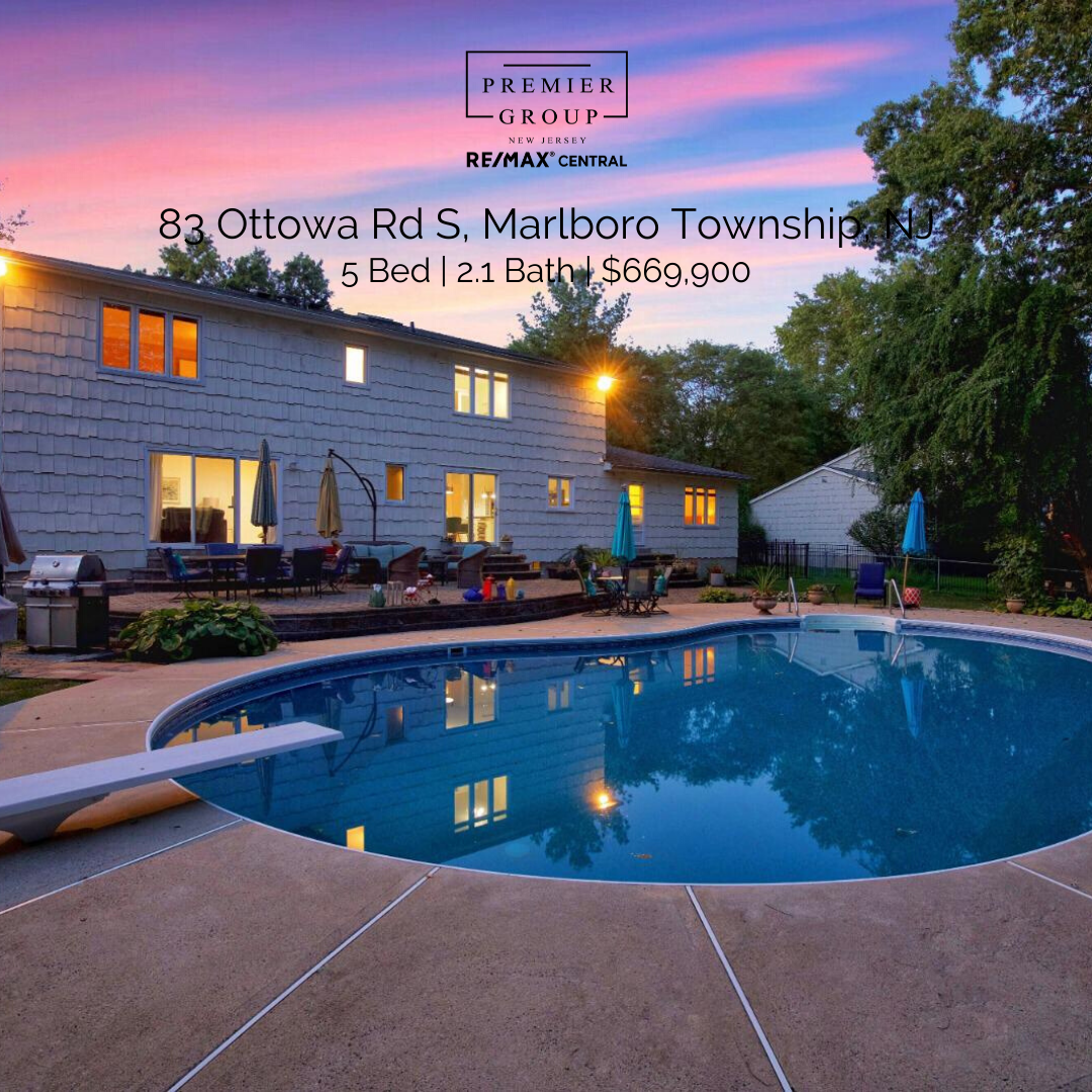 📍83 Ottowa Rd S, Marlboro Township, NJ 🛏 5 Bed | 🛁 2.1 Bath | 💸$669,900  Fall in love as soon as you step into this spacious home, its exactly what you have been looking for in the heart of Marlboro, NJ!   #thepremiergroupnj #realestate #realtor #remax #forsale #thepremiergroup #milliondollarlisting #forsale #sellyourhome #njrealestate #buyorsell #buyinghomes #sellinghomes #homeselling #houseselling #homebuying #NewJersey #NewHome