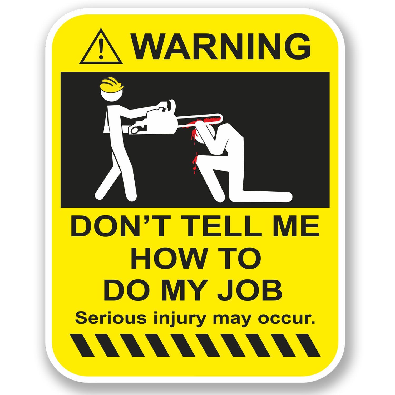 2 X 10Cm Funny Warning Vinyl Sticker Ipad Laptop Car Drift Dub Vw Job Joke 4955