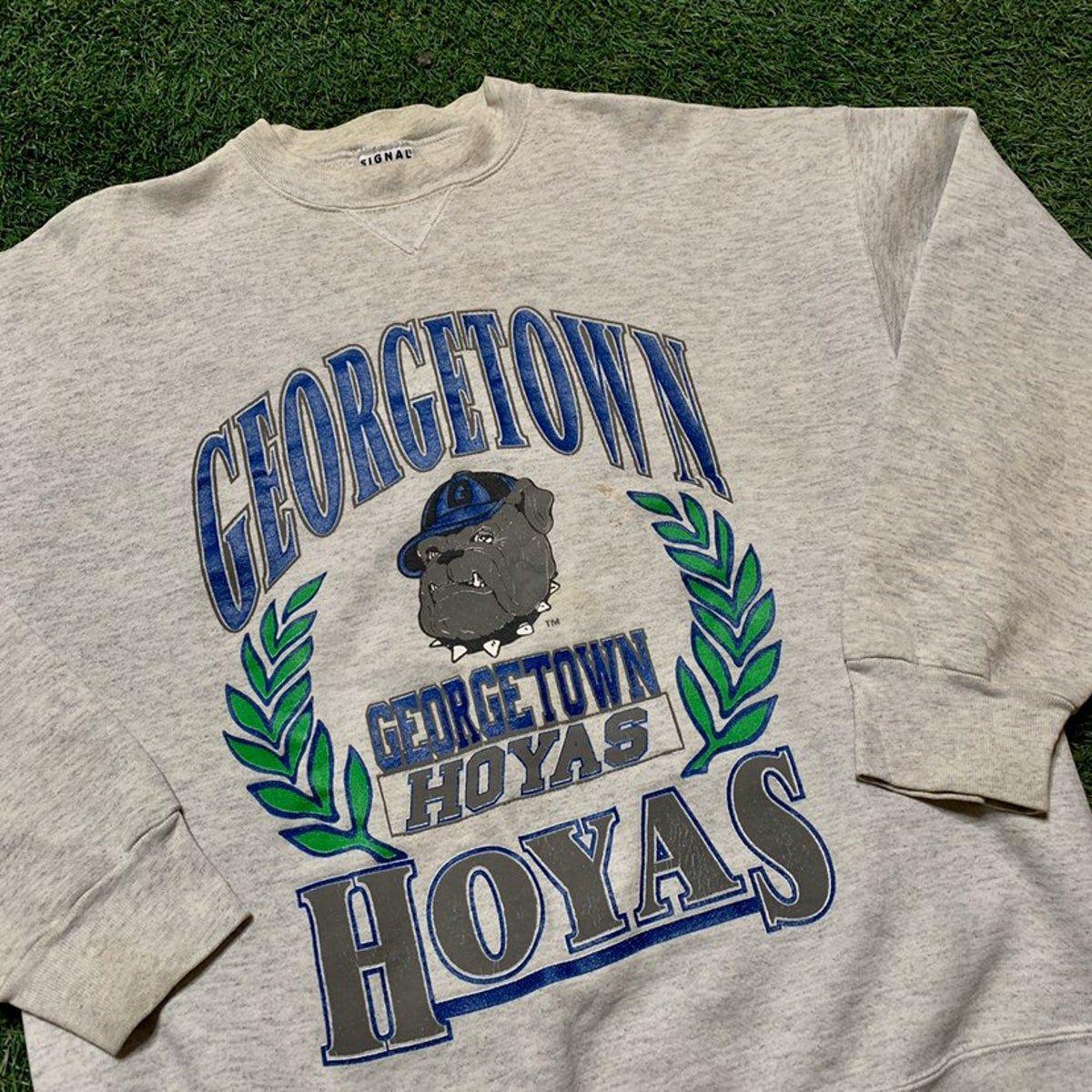 Vintage Georgetown Hoyas Crewneck In 2021 Vintage College Sweatshirts College Sweater Vintage Shirt Design [ 1200 x 1200 Pixel ]