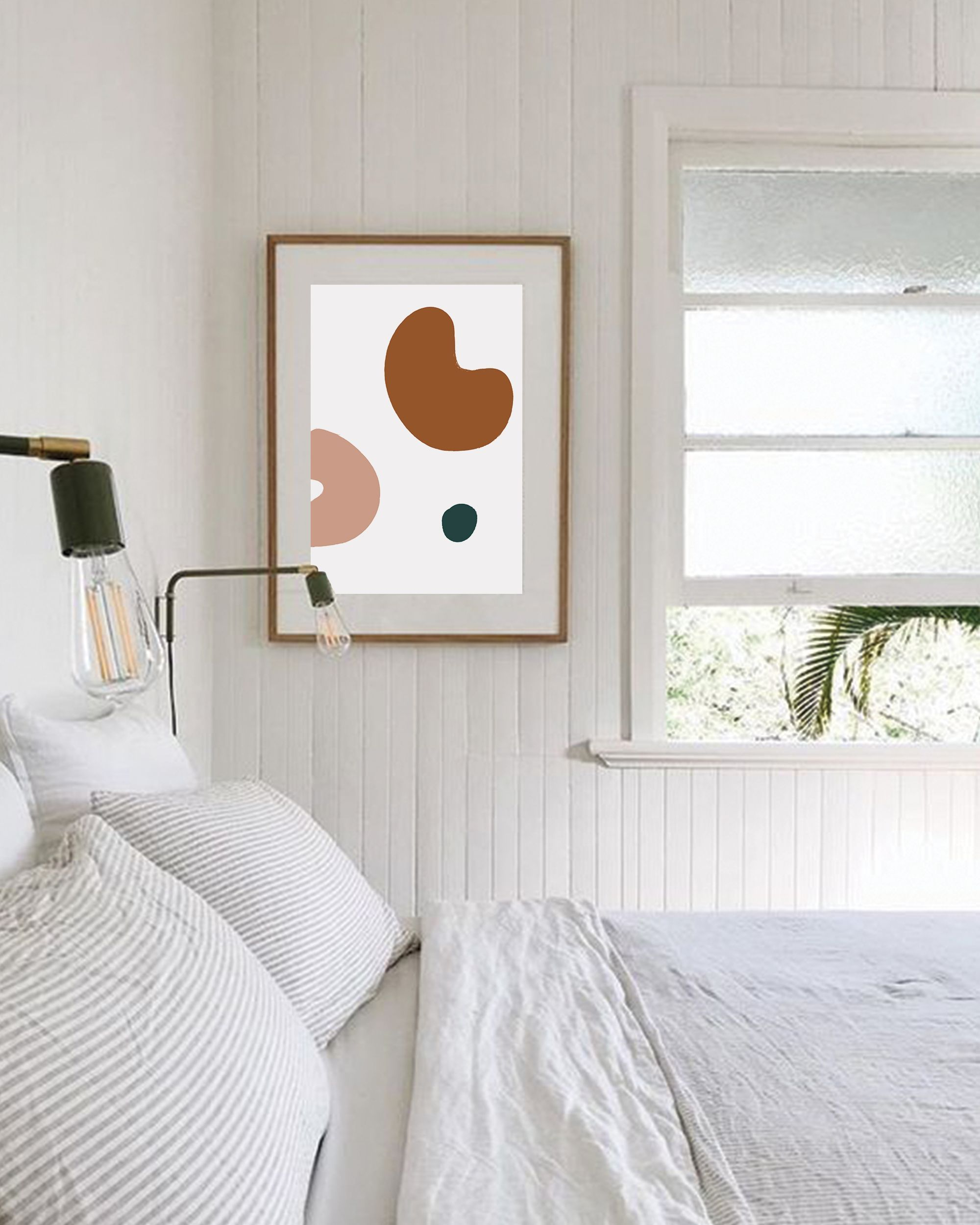 Abstract Mid-Century Modern Bedroom Wall D cor Master ...