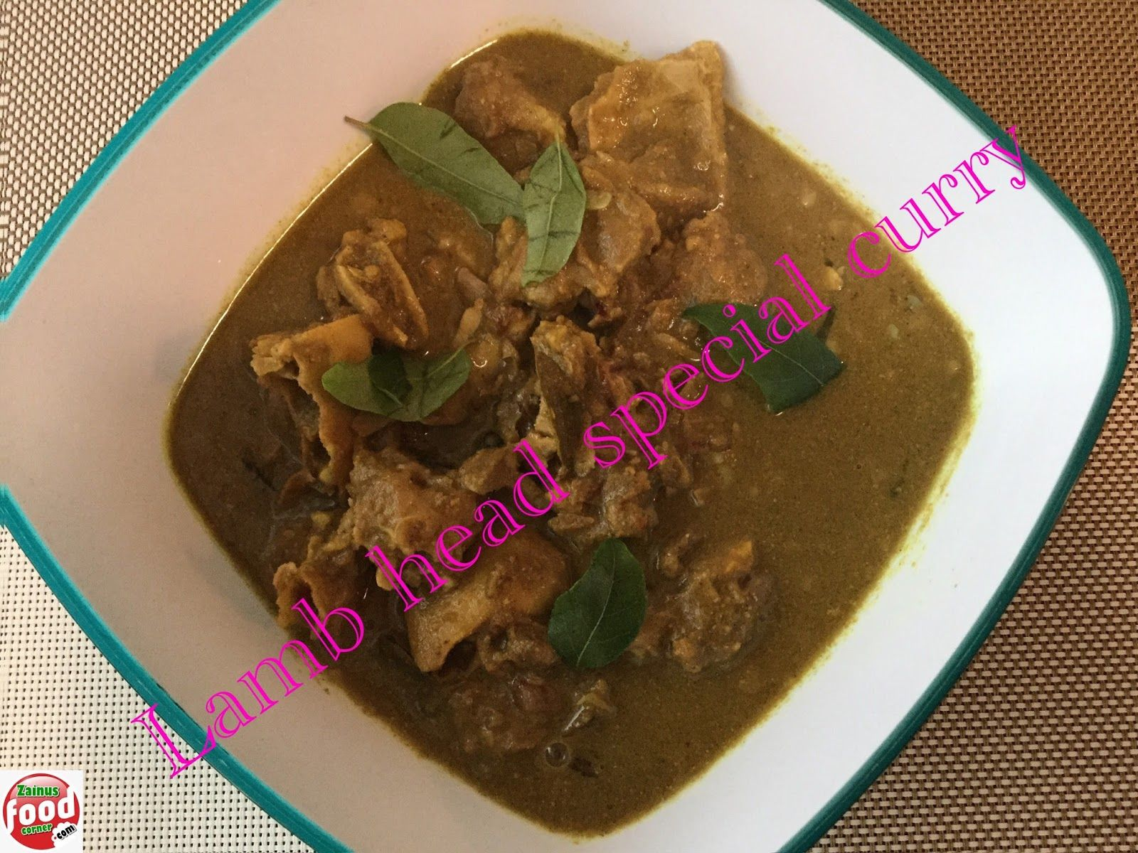Lamb head special curry (Attinthala curry) in 2019