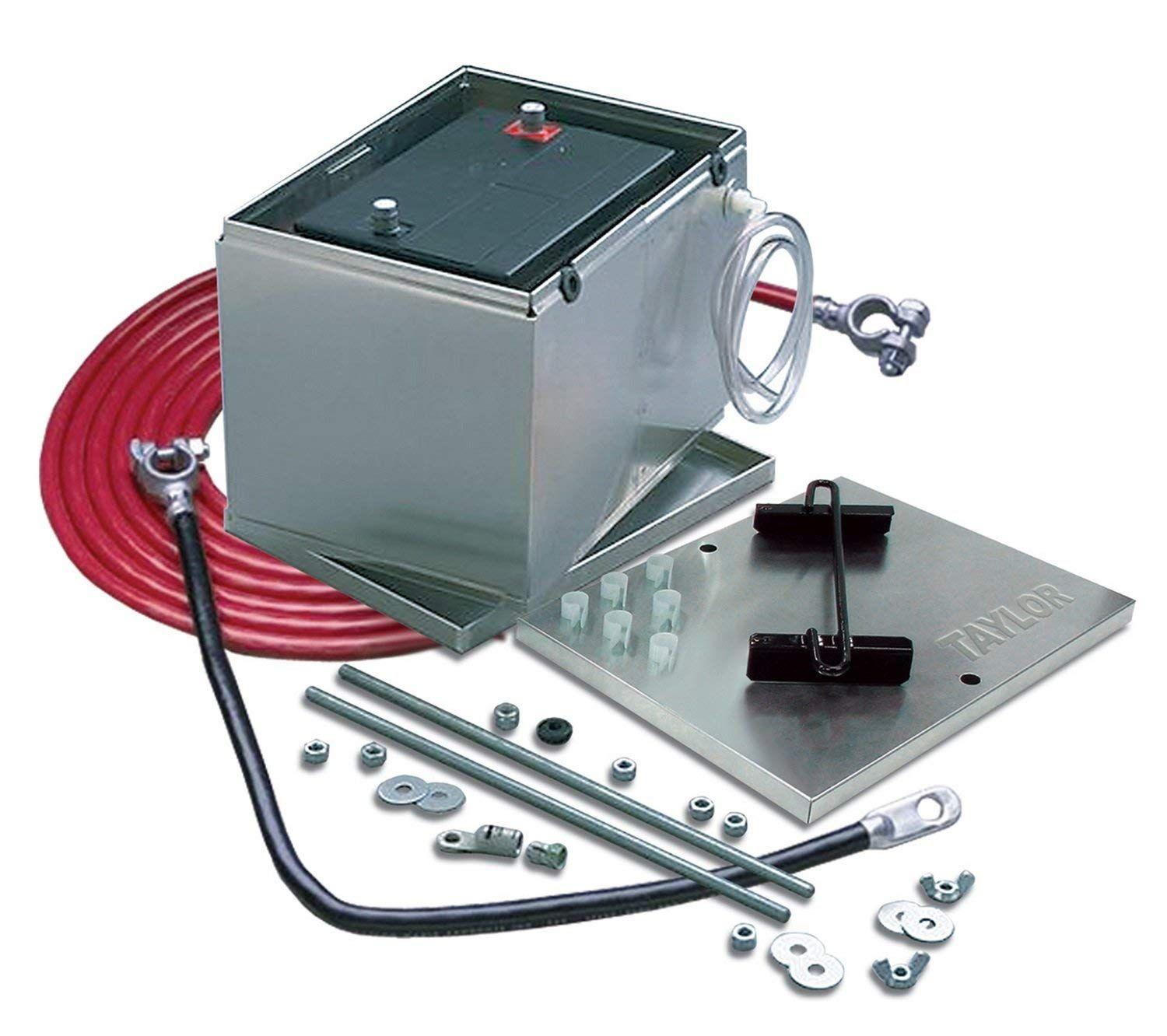 Taylor Cable 48101 Aluminum Battery Box With 16 Ft 2 Gauge Battery Cable Kit Click On The Image For Additional Details This I Battery Cable Welding Cable