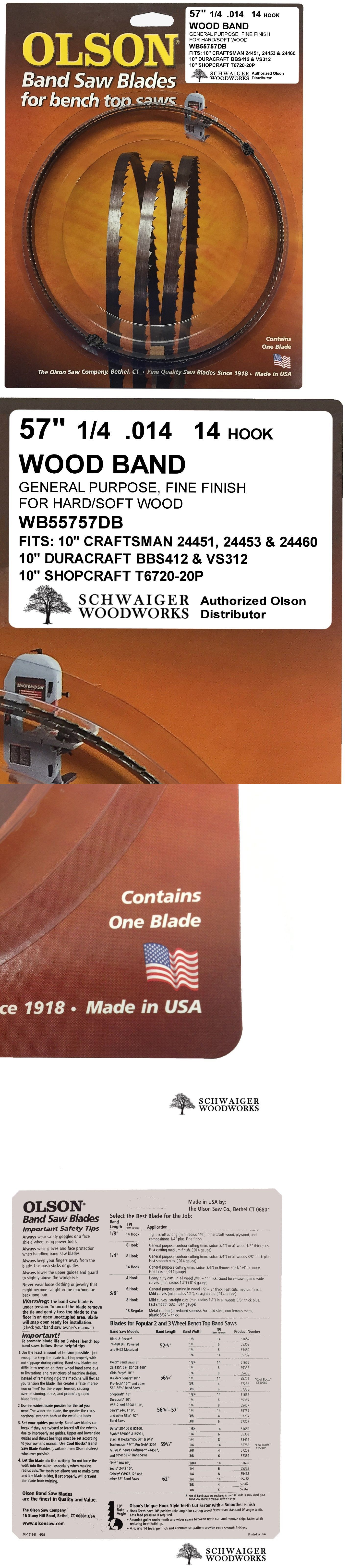 Band Saws 177016 Olson Band Saw Blade 57 56 7 8 Inch X 1 4 14tpi For Craftsman Shopcraft Buy It Now Only 14 99 On Ebay O Band Saw Blade Blade Ebay
