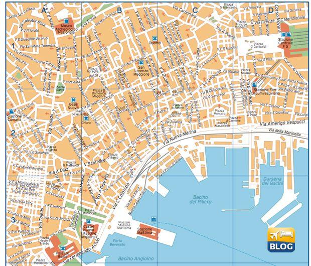 Mappa Napoli Puglia.Cartina Di Napoli Napoli In Viaggio Stampe