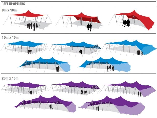 Stretch Tent Erecting Options Tent Pinterest Tente