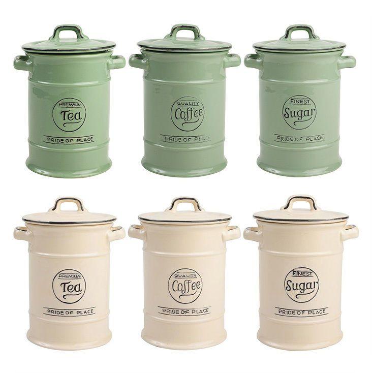 Heart Of The Home White Ceramic Utensils Storage Jar Storage Pot Container