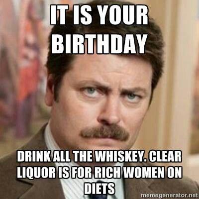 I Love You Ron Swanson Funny Birthday Meme Birthday Memes For Men Happy Birthday Ron