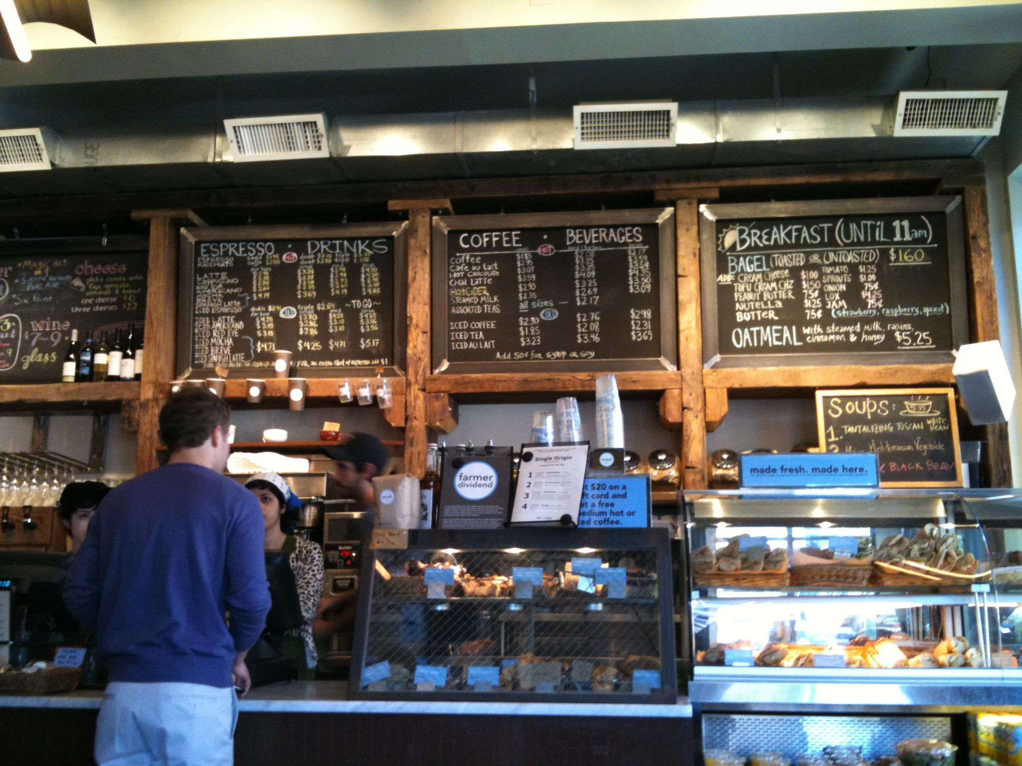 Coffee shop with price board and people | Chalk board menu ...