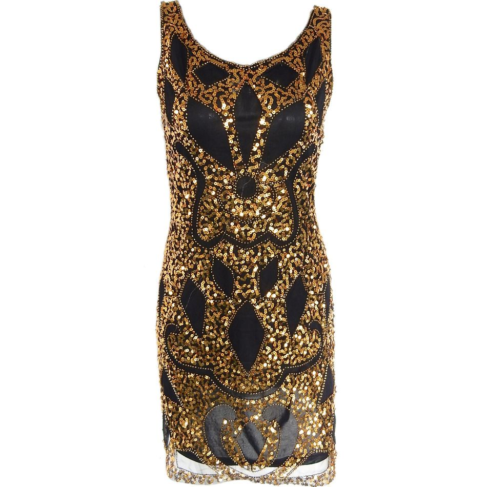 Women 1920\'s Sequin Art Deco Hollow Paisley Tribe Cocktail Inspired ...