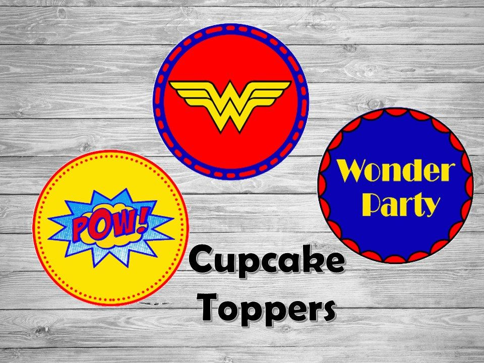 picture about Wonder Woman Logo Printable identified as Surprise Female Printable Tags / Marvel Girl get together/ Cupcake