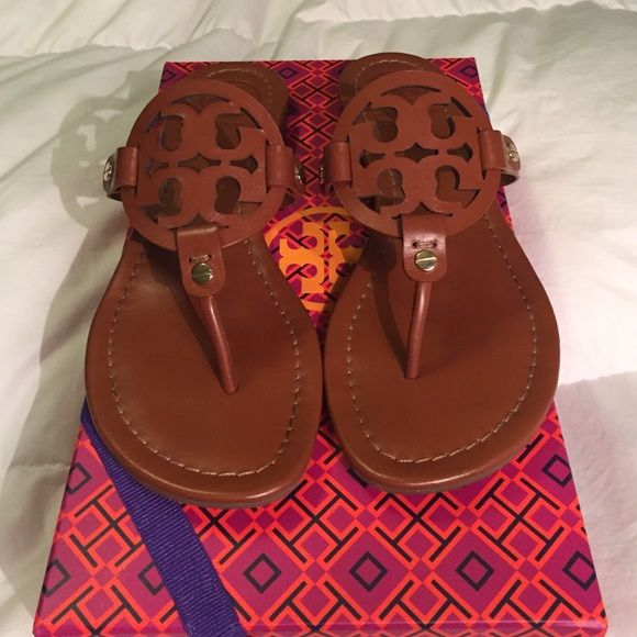 137b58ae781e4b Tory Burch Miller Sandals Tory Burch Miller sandals in the Vintage Vachetta  color. Worn only