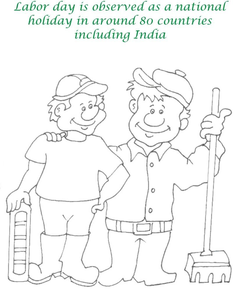 labor day coloring pages Labor Day printable coloring