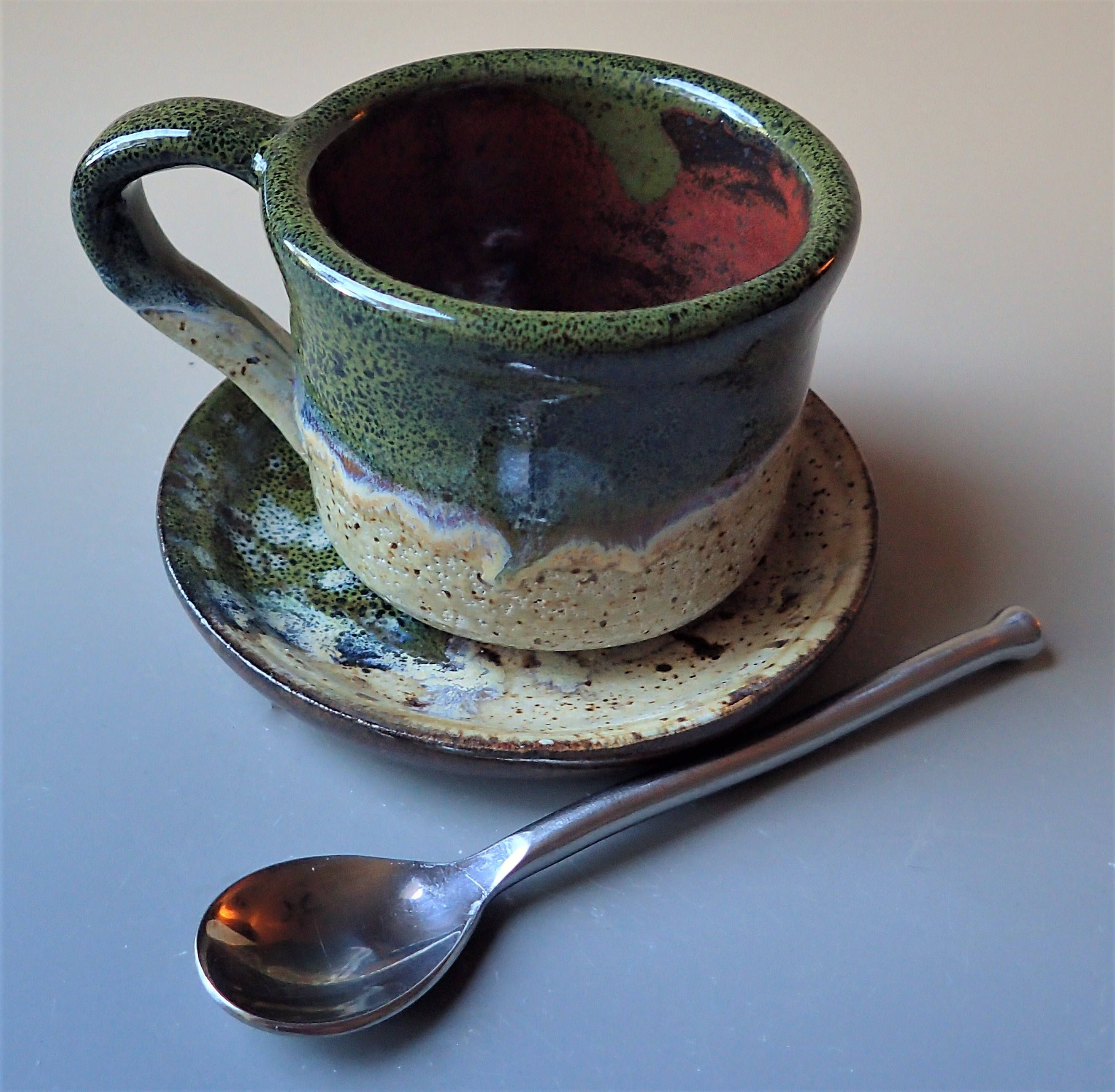 Espresso Cup and Saucer Double Espresso Lungo Size by