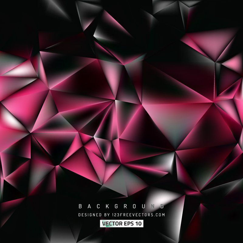 Abstract Black Pink Polygon Background