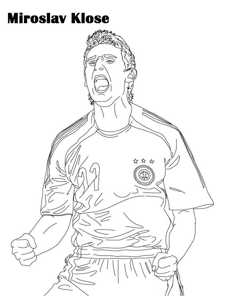 Miroslav Klose Soccer Player Coloring And Activity Page ...