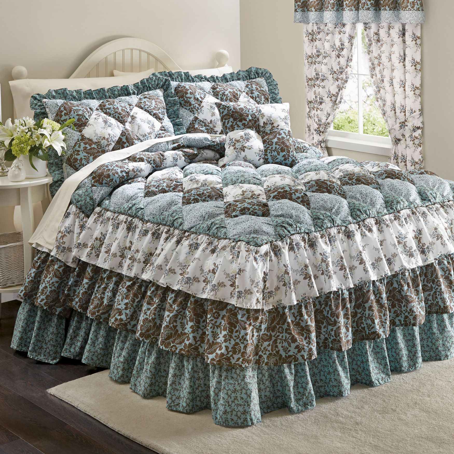 Alexis Puff Top Printed Bedspread More Decoracao De Casa