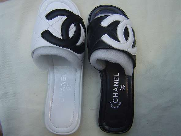 Chanel shoes, Chanel slippers, Shoes