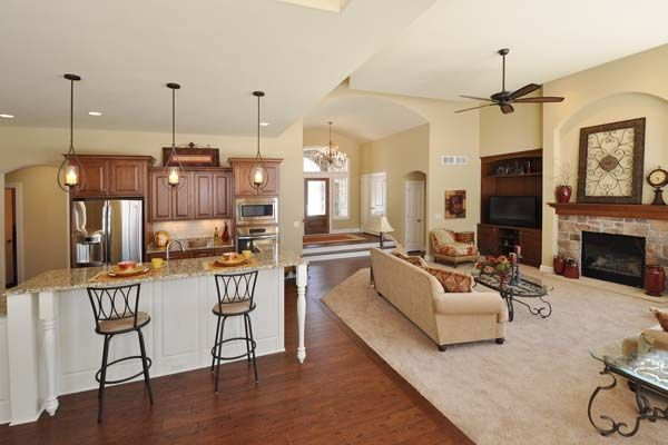 The Linden Open Concept Living Area Victory Homes Of Wisconsin Inc Victoryhomesofwisconsininc