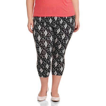9757702e65e Faded Glory Women s Plus-Size Essential Capri Leggings