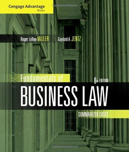 I'm selling Cengage Advantage Books: Fundamentals of Business Law: Summarized Cases - $10.00 #onselz