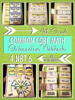 Interactive Notebook Activities - Multi-Digit Division {4.NBT.6}