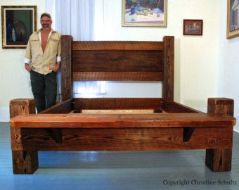 Reclaimed Wood Bed Queen Made From Mississippi Cypress By Marc Deloach