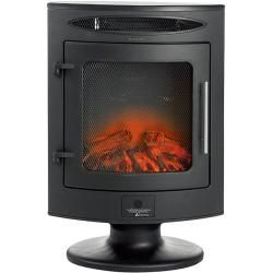 Voltomat Heating Elektrischer Kamin (Schwarz, 1.800 W, Mit Sockel) + Bauhaus Garantie 5 Jahre auf el