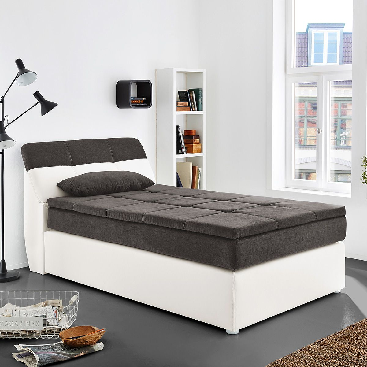 nett bett 120x200 grau get cosy pinterest bett 120 bett und grau. Black Bedroom Furniture Sets. Home Design Ideas