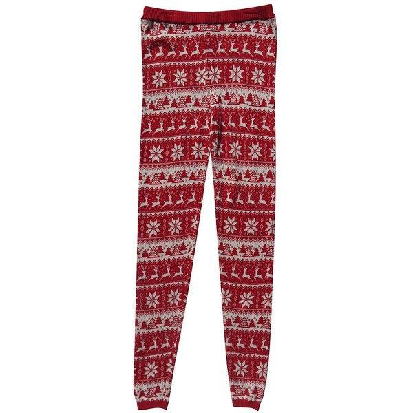 Women's Mossimo Sweater Knit Christmas Nordic Fair Isle Leggings ...