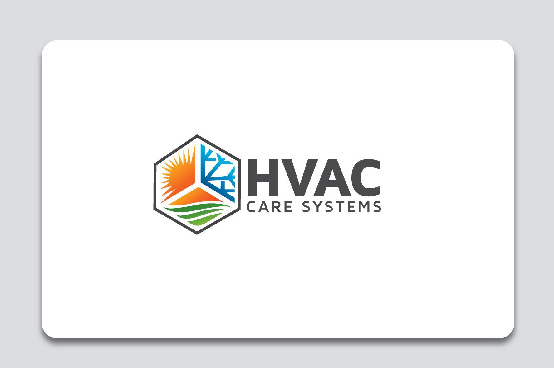Hvac Care Services Logo Graphic Design Logo Business Card Logo