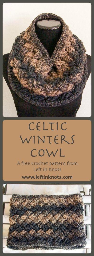 Celtic Winters Cowl | Strickschmuck, Tuch häkeln und Stricken häkeln