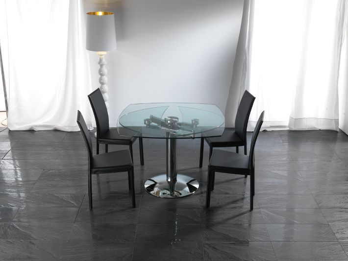 Tavolo Ellisse 656 tavoli cristallo allungabili - tavoli   Un ...