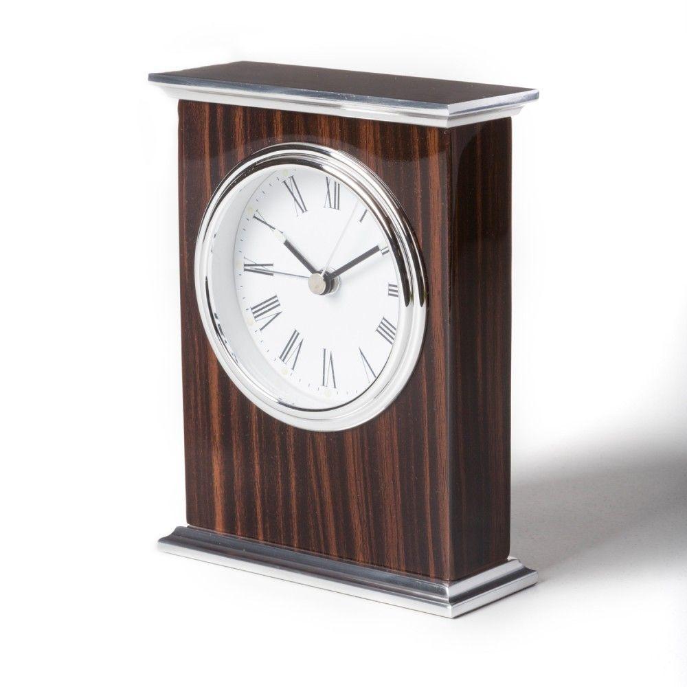 Ebony Wood Alarm Clock