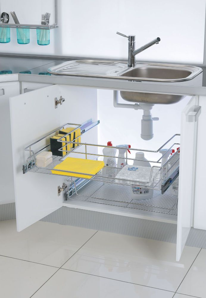 Best Details About Wire Pull Out Chrome Under Kitchen Sink Base 400 x 300