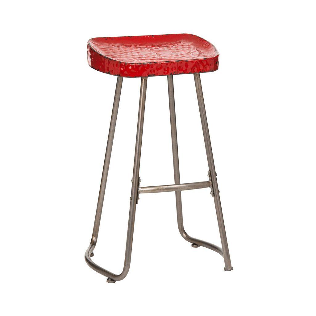 Artisan Stool Red Metal Bar Stools Stool Metal Bar Stools