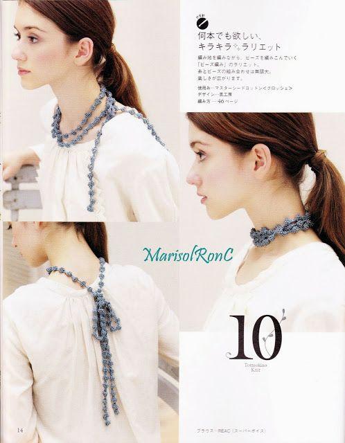 Collar Gargantilla Patron - Patrones Crochet | Crochet Jewelry ...
