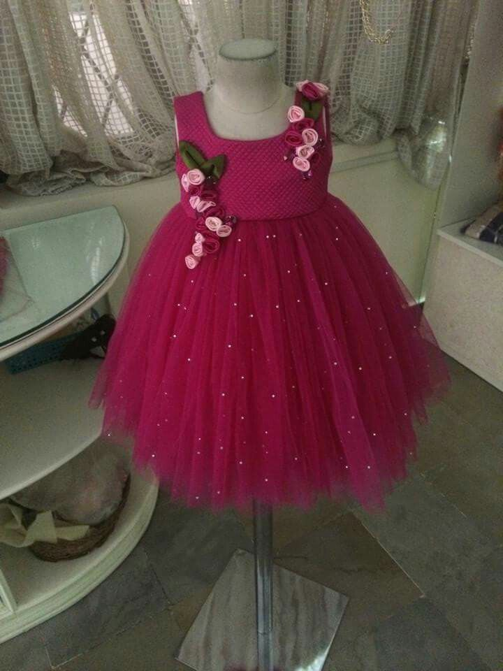 49530209a7e2 Discover ideas about Kids Frocks. Cute kid in Red frock Designed bt aadyaa- soul of elegance