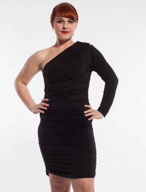 Sexy One Shoulder Plus Size Black Club Dress Dresses Pinterest