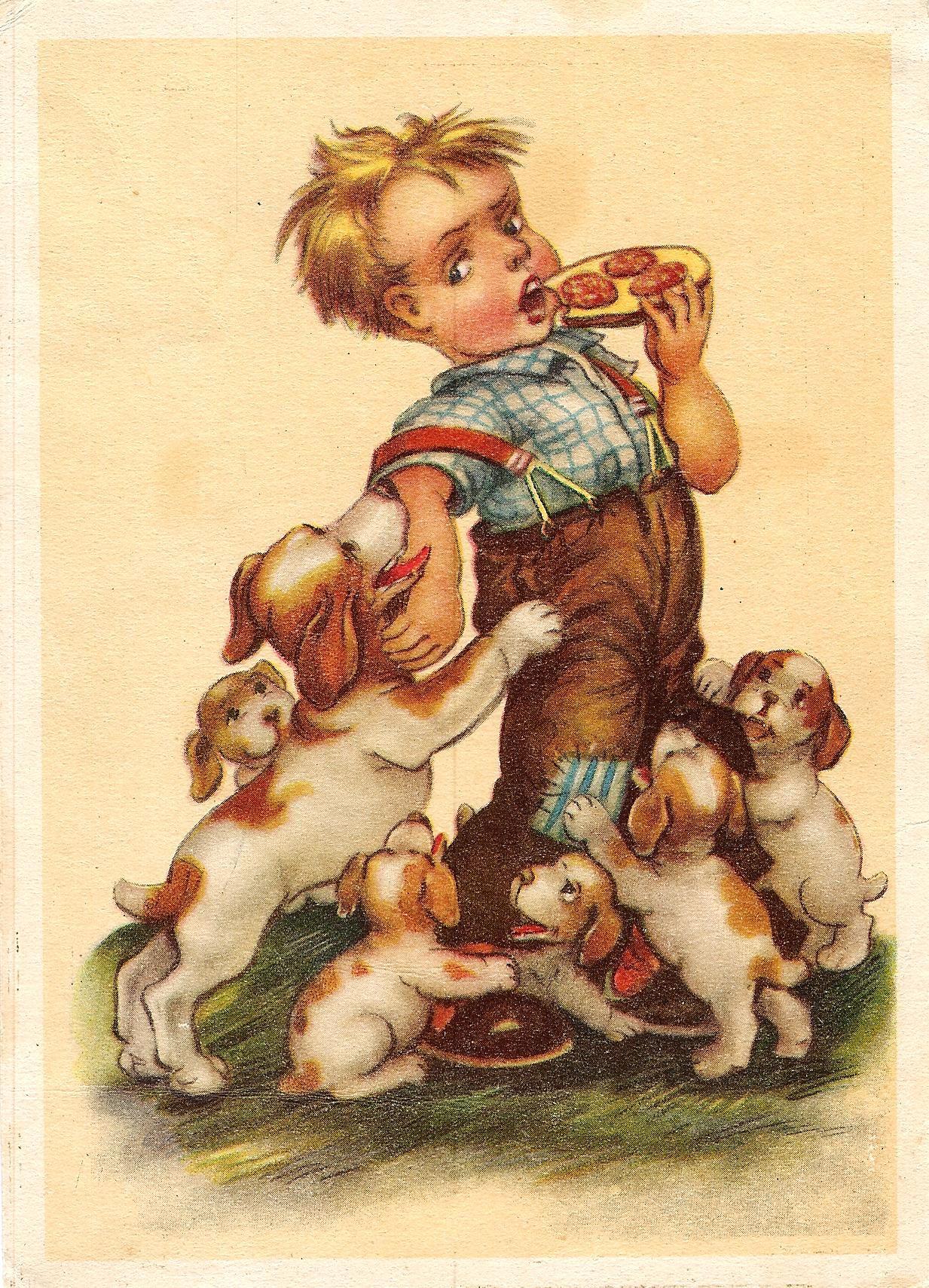 Картинка немецкой открытки, музыкальные