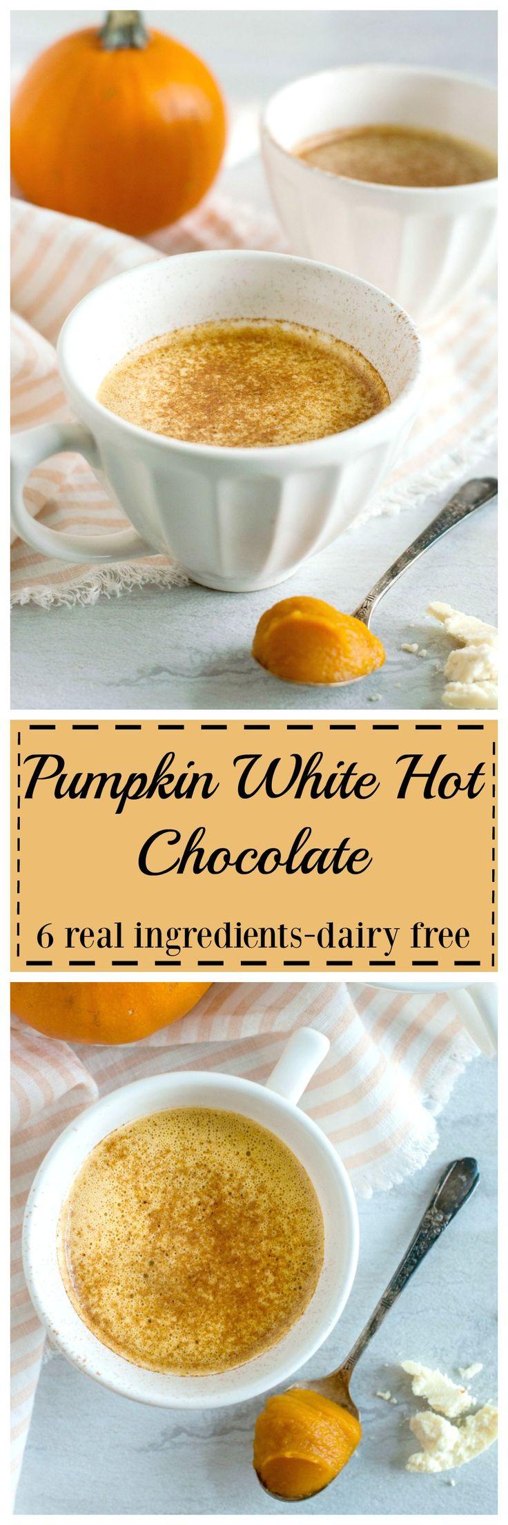 Pumpkin White Hot Chocolate (Dairy Free) Recipe White