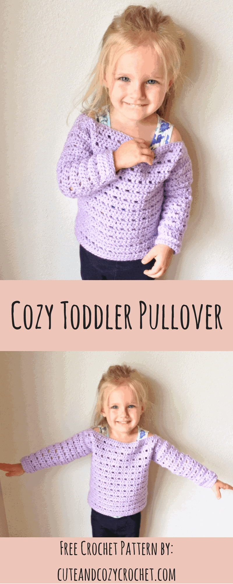 Cozy Toddler Pullover | Free Crochet Pattern | Toddler Sweater ...