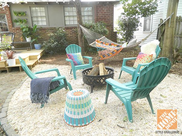 Backyard Makeover With Color and Comfort - The Home Depot #backyardmakeover