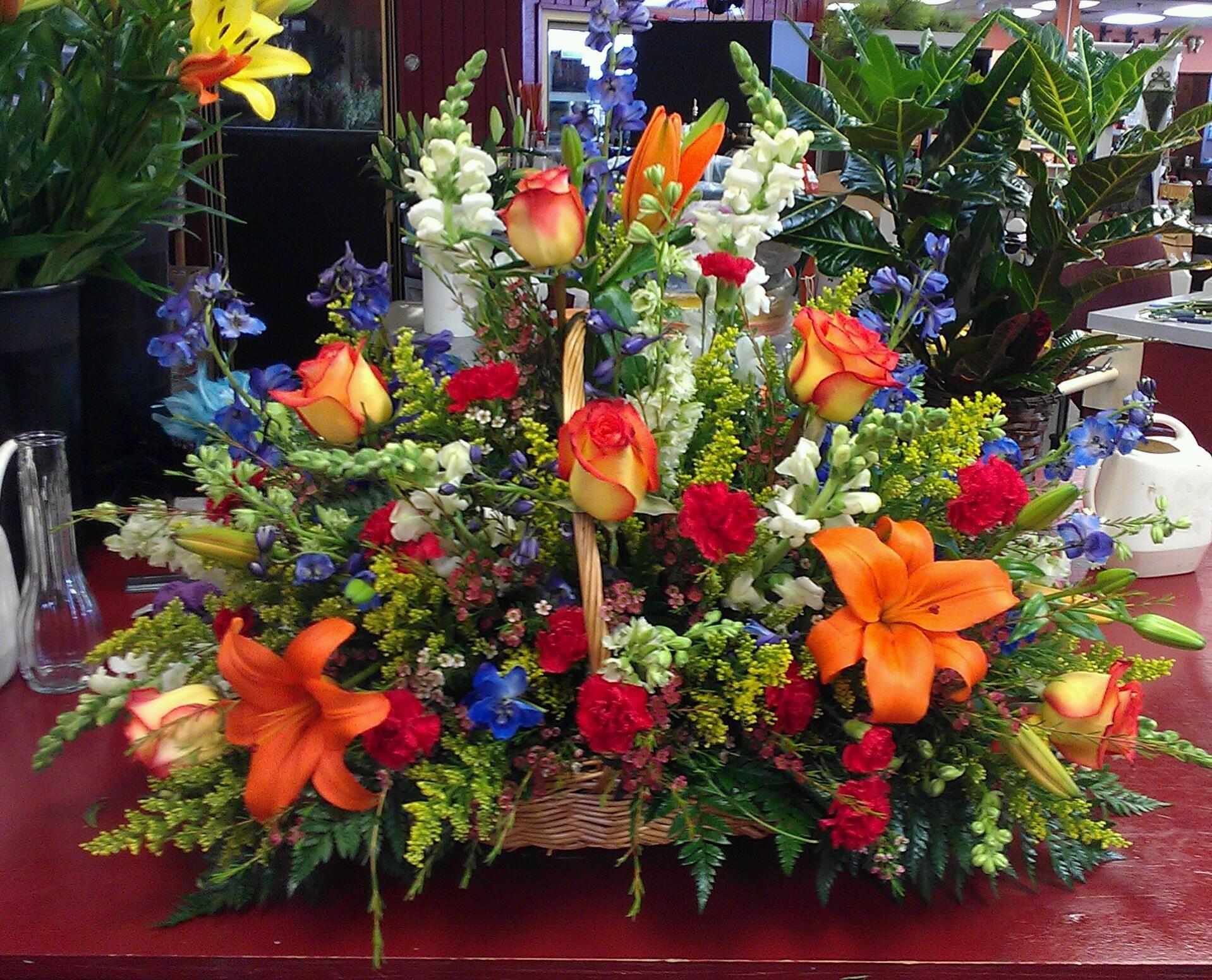 Funeral Basket Basket Flower Arrangements Funeral Flower Arrangements Funeral Floral Arrangements