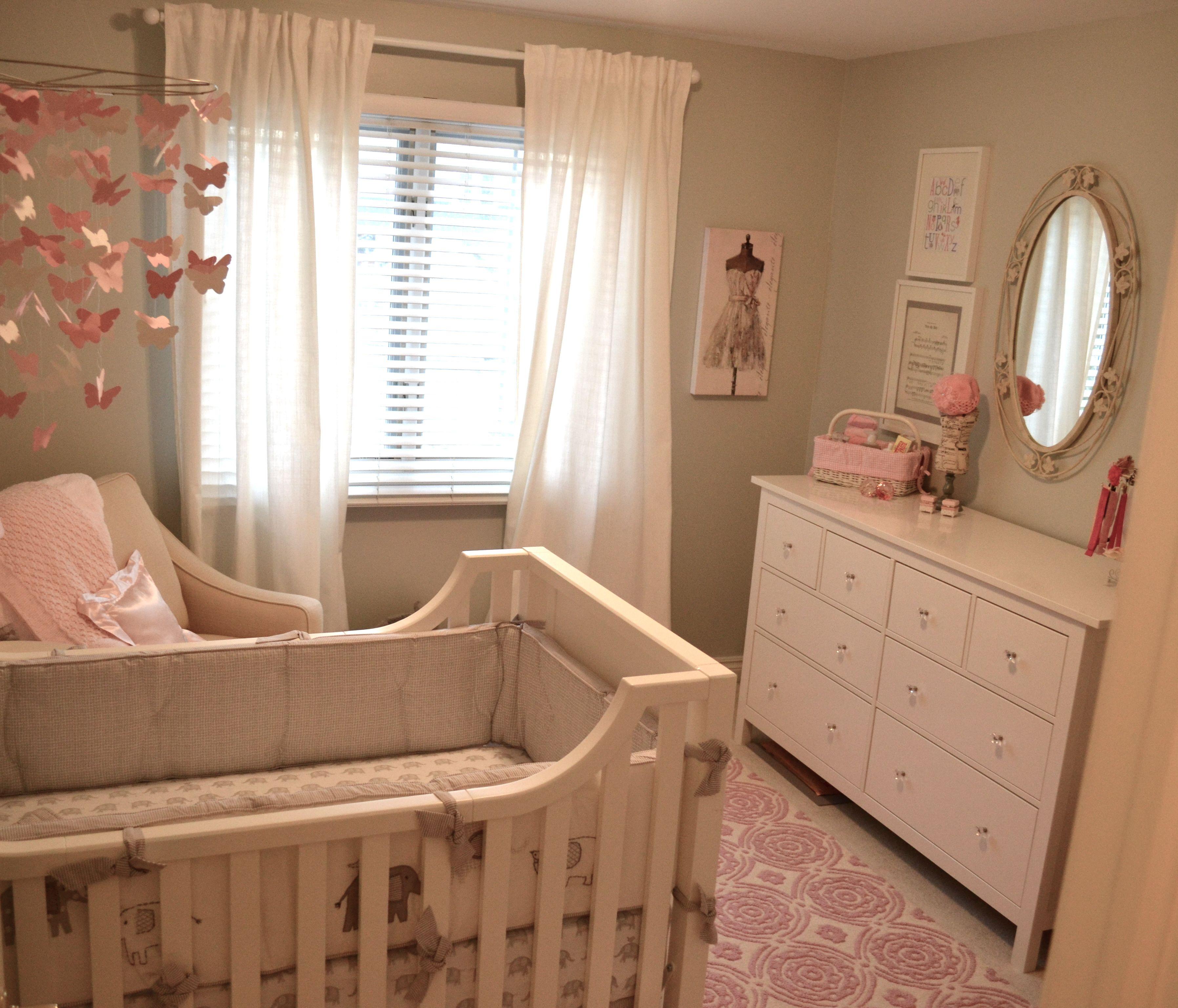 Neutral Girl Nursery With Pops Of Pink Pb Kids Rug