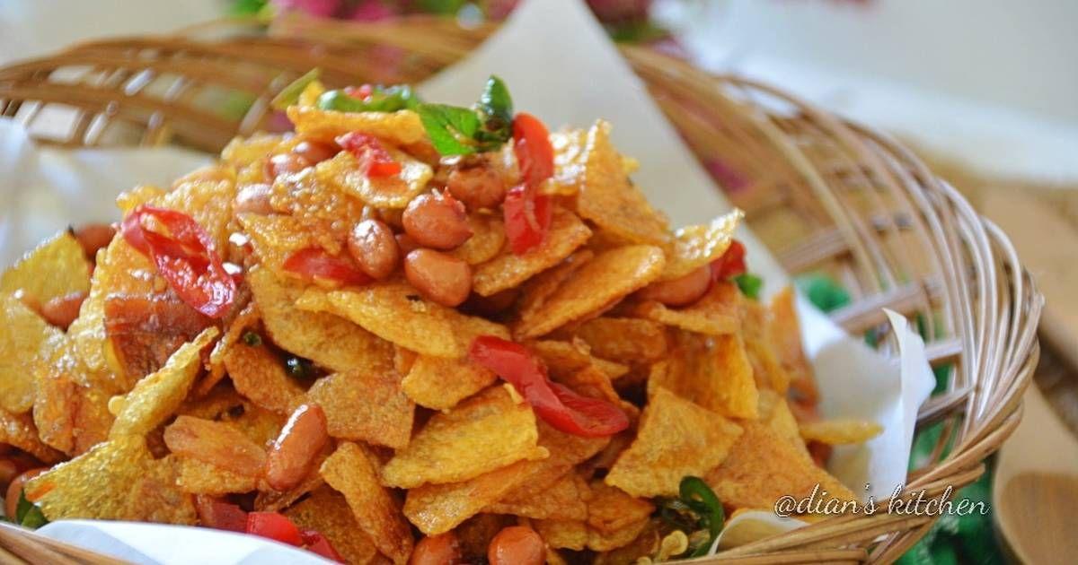 Resep Kering Kentang Pedas Manis Tanpa Kapur Sirih Oleh Dian S Kitchen Resep Makanan Makanan Dan Minuman Kentang