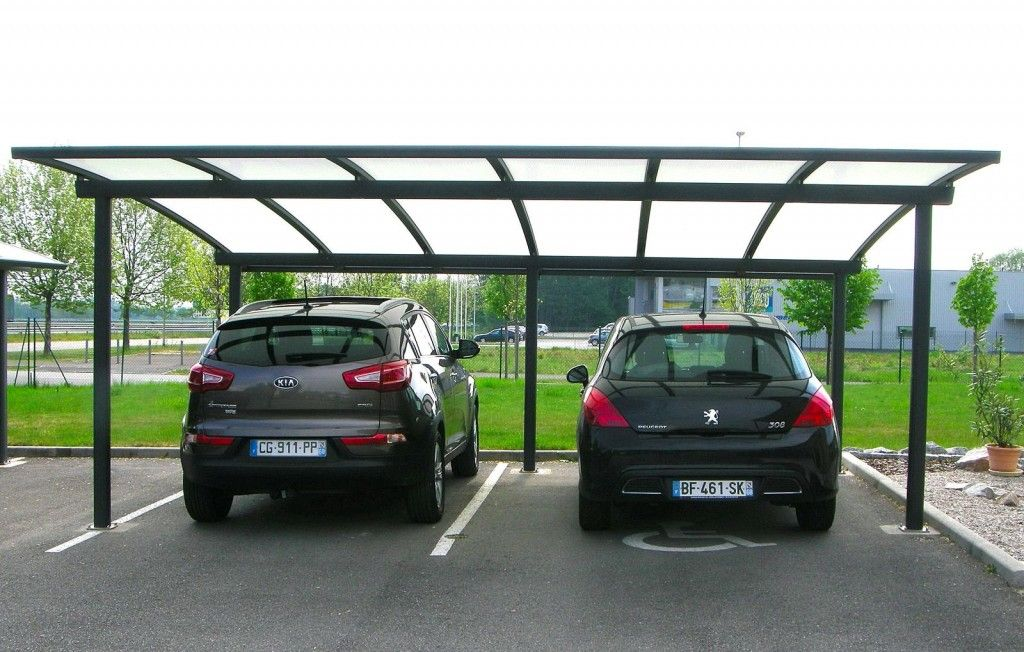 carport abri 2 voitures cintr en aluminium par jlc. Black Bedroom Furniture Sets. Home Design Ideas