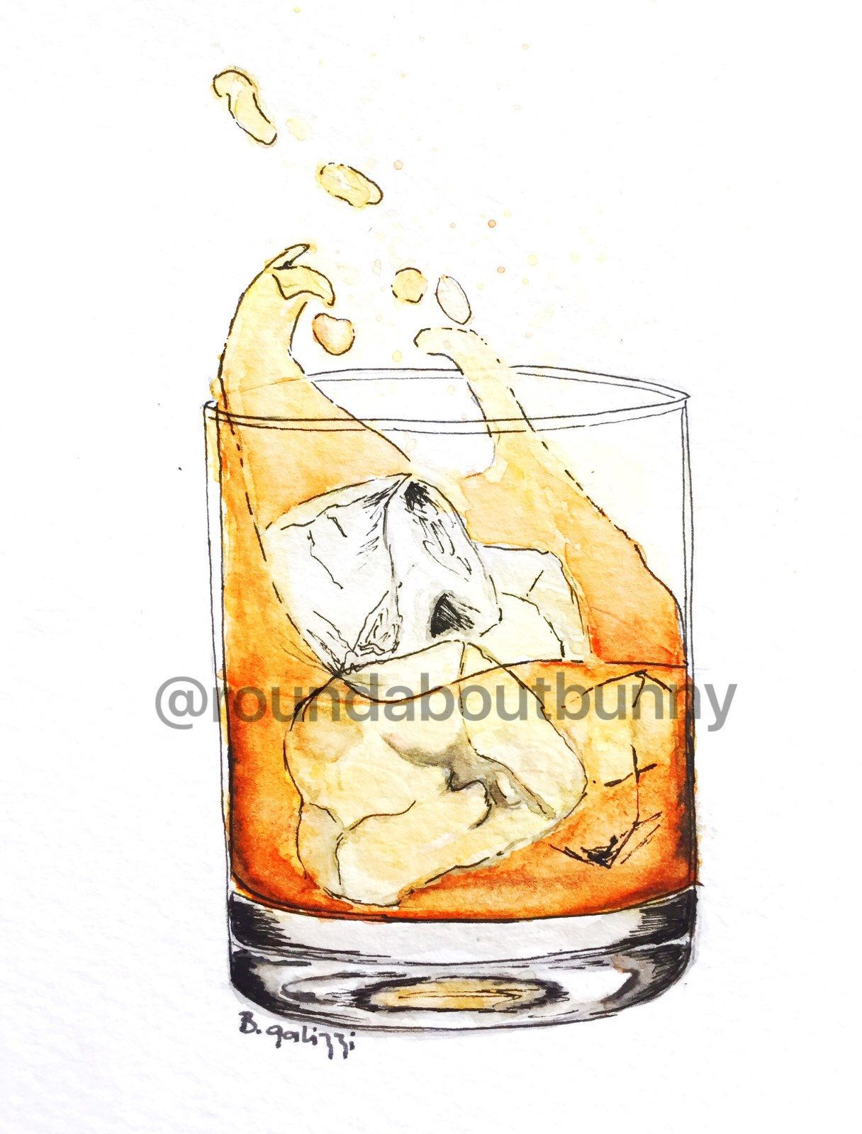 Glass of scotch, art print, scotch whisky, bar wall decor, home bar ...