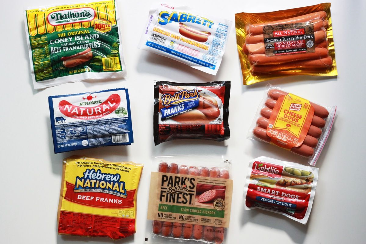 The Hot Dog Taste Test We Tried 9 Brands And Here S What We Thought Grilling Hot Dogs Taste Testing Hot Dogs