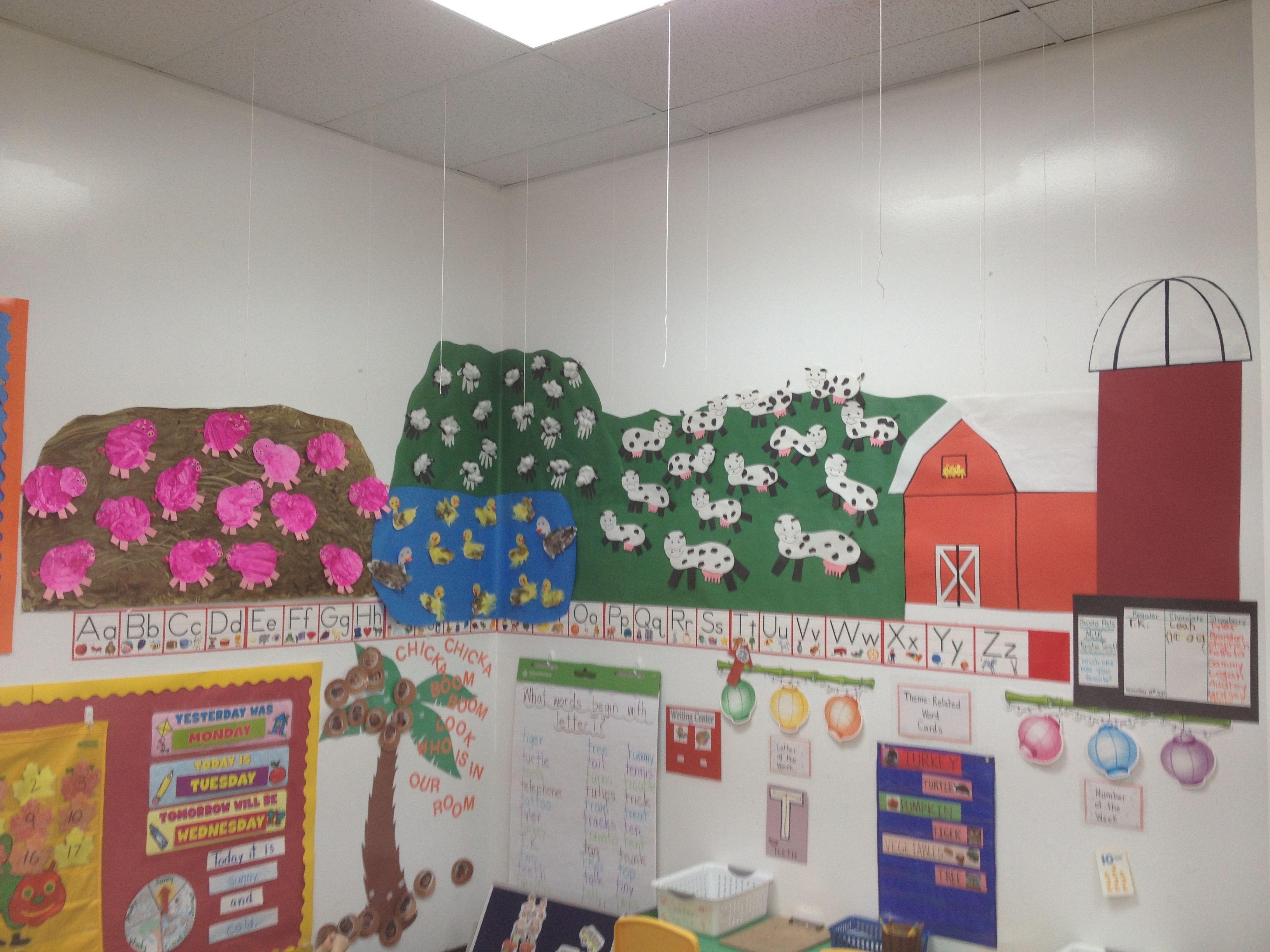 Preschool Classroom Farm Display
