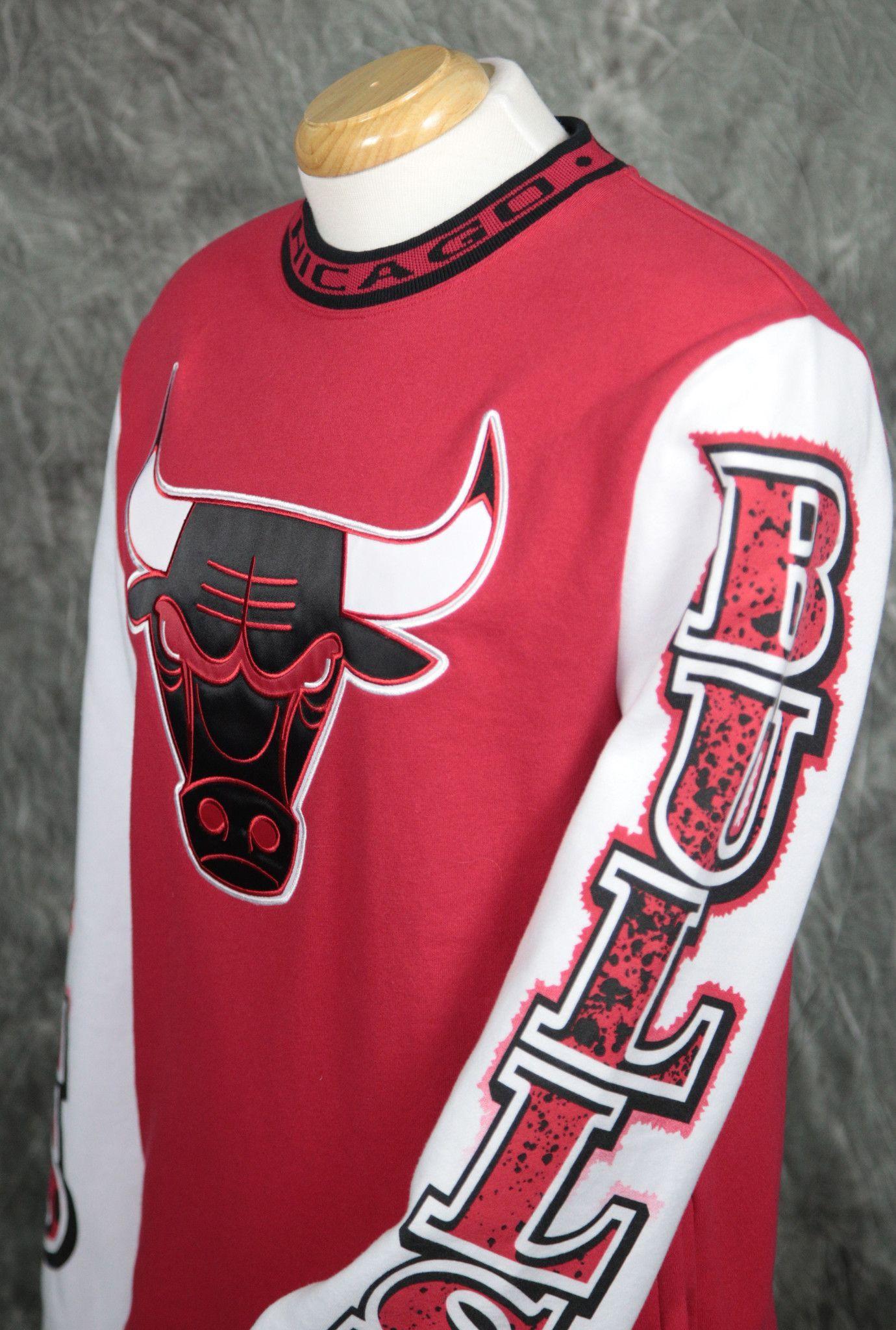 64f651972b786 Chicago Bulls Mitchell   Ness Excessive Celebration Sweatshirt ...